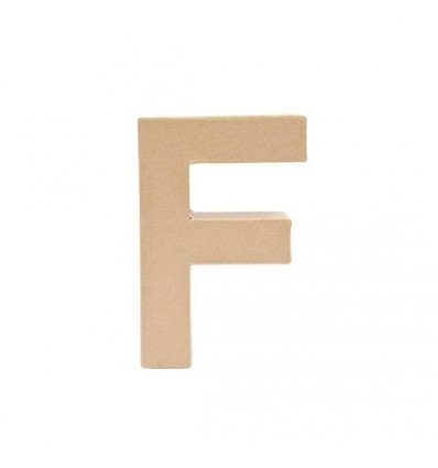Letra F de Carton de 17,5 x 5,5 cm
