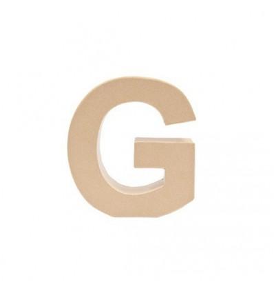 Letra G de Carton de 17,5 x 5,5 cm