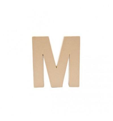 Letra M de Carton de 17,5 x 5,5 cm