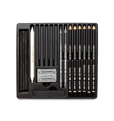 Set para esbozar y dibujar Cretacolor Black Box 20 pz
