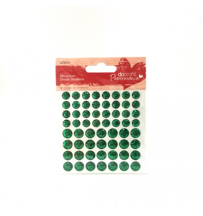 Enamels adhesivos glitter verde
