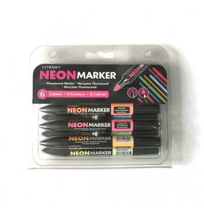 Pack 6 rotuladores Neonmarker