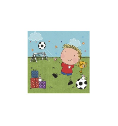 Servilleta Niño Futbol 33x33