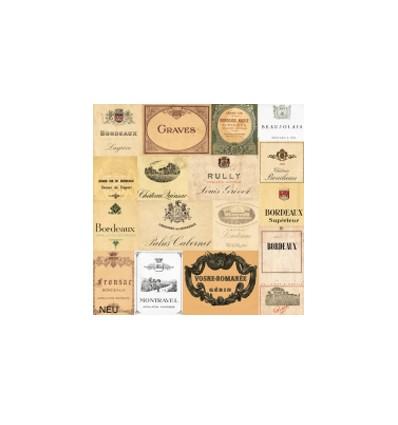 Servilleta Etiquetas de Vinos 33x33