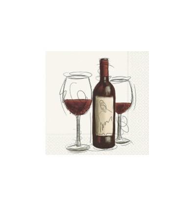 Servilleta Copas de Vino 33x33