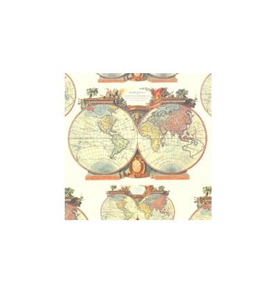 Servilleta Mapas 33x33