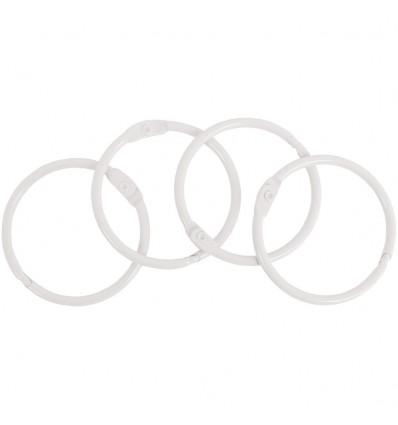 Set de Anillas Metalicas 35 mm. Blancas