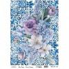 Papel arroz Collage Flores