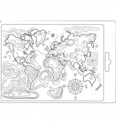 Molde A5 Mapa del Mundo Stamperia