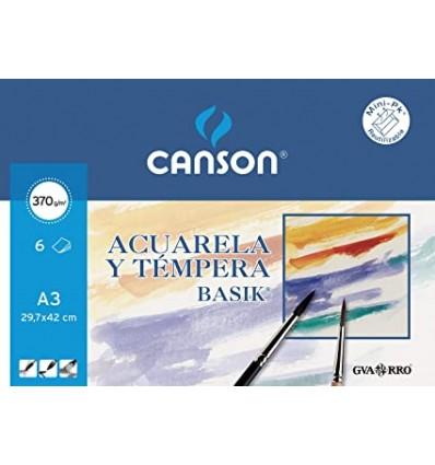 Papel Acuarela Basik Canson A3
