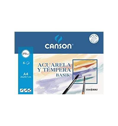 Papel Acuarela Basik Canson A4