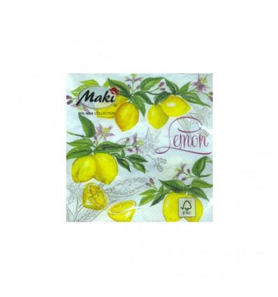 Servilleta Limones 33x33