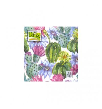 Servilleta Cactus rosas 33x33
