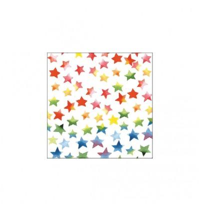 Servilleta Estrellas de Colores 33x33